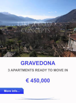 GRAVEDONA 3 APARTMENTS READY TO MOVE IN € 450,000 More info... More info...